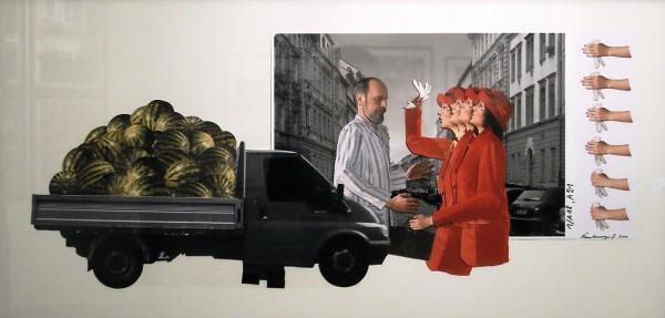 33. Jan Švankmajer: fotokoláž z cyklu Přežít svůj život
