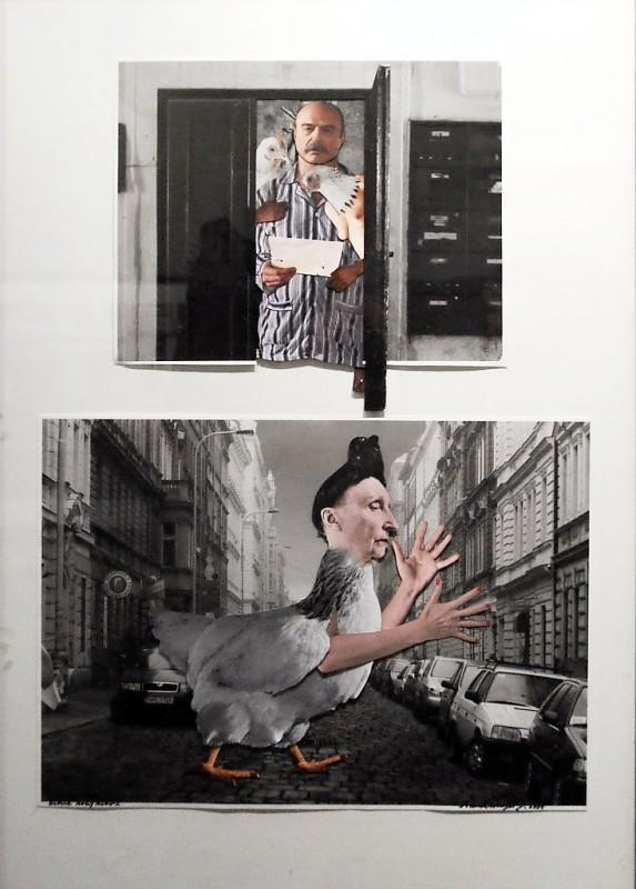 3. Jan Švankmajer: fotokoláž z cyklu Přežít svůj život