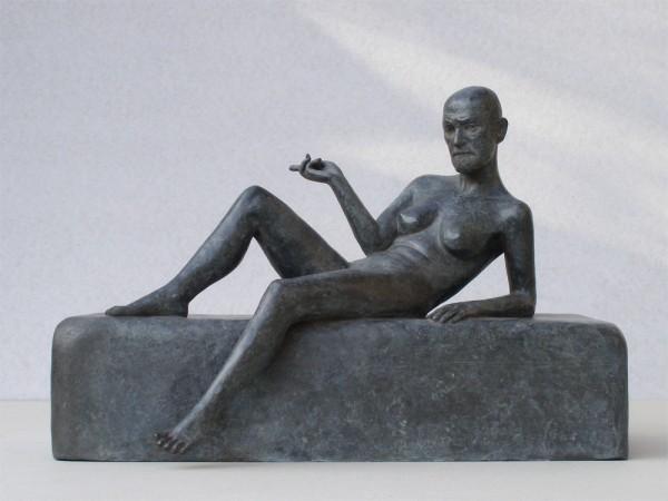 Kurt Gebauer - Freud, bronz, 40x20x30 cm, 2006