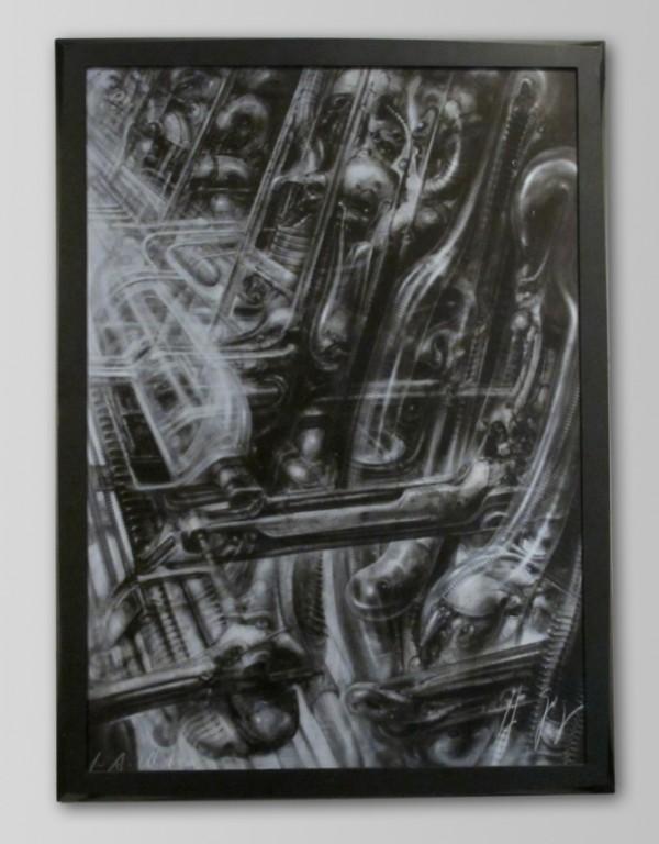 H. R. Giger - N. Y. City I, 50 x 70 cm