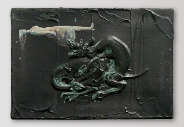 Michael Rittstein - Vzácný jev, akryl/plátno, 2010
