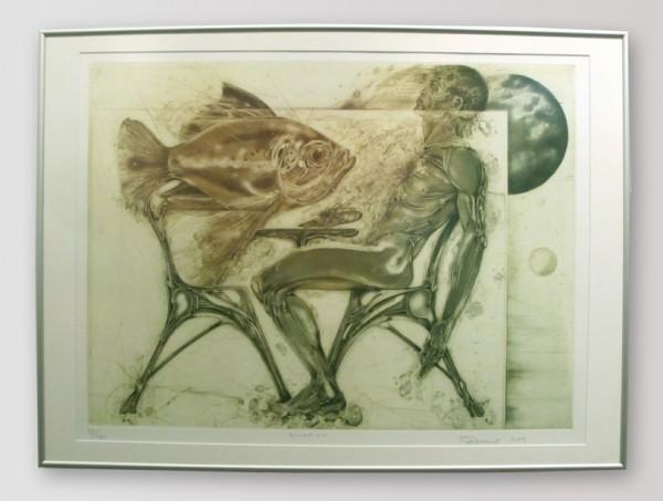 Karel Demel - Akvarium, 50 x 70 cm, 2001