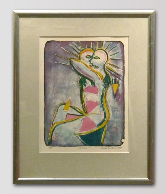 Andrea Fosterová - Milenci, barevná litografie, 50 x 70, 1999