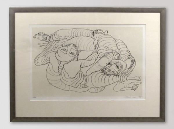 Karel Nepraš - Kruh, litografie, 60 x 50 cm, 1992