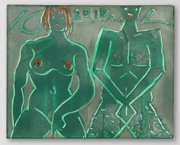 Ivan Komárek - Přetvářka, akryl na plátně, 30 x 23 cm, 2010
