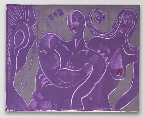 Ivan Komárek - Žárlivec, akryl na plátně, 30 x 23 cm, 2010