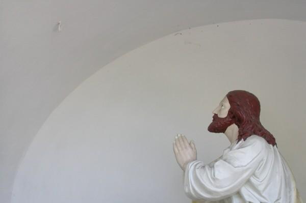 Jiří Surůvka - z cyklu Katolická moderna, tisk na gumotex, 50 x 70 cm, 2011, kopie č.3
