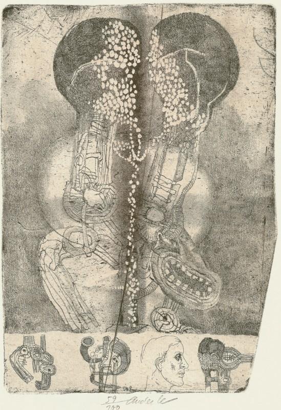 JIří Anderle - Postavy, litografie, 1998