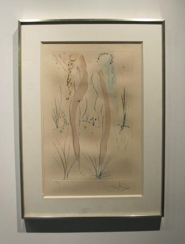 Salvador Dalí - Le Cantique des atiques, suchá jehla, 1971