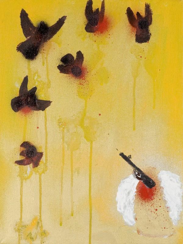 Martina Chloupa - Nikdo není dokonalý, akryl na plátně, 40x30cm,  2004