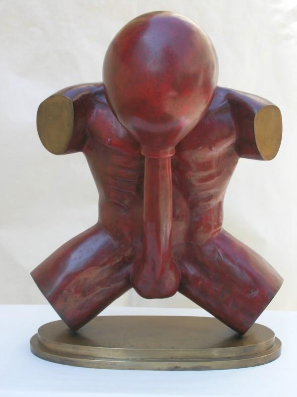 Stefan Milkov - Selfmademan, bronz, v.58 cm, 1993
