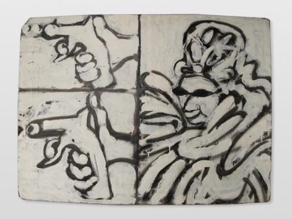 Martin Mainer - Matahari na Moravě, akryl/sololit, 80 x 120 cm