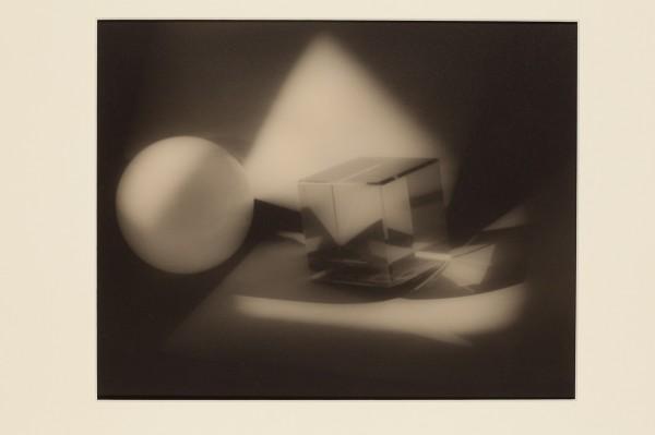 Jaromír Funke: Kompozice (koule a skleněná krychle), 1929, pozdější zvětšenina 2005