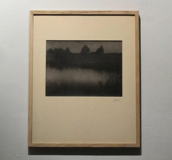 Jan Lauschmann: Rybník večer, 1926, pigmentový tisk