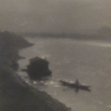 Jan Lauschmann: Loď na Vltavě - detail, 1929, černobílá fotografie