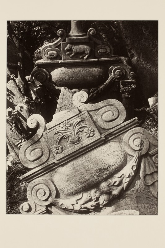Eugen Wiškovský: Znak - z cyklu Ze starého židovského hřbitova, 1953, pozdější zvětšenina 1992