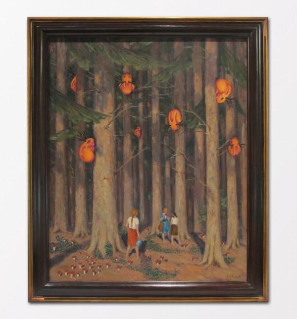 Daniel Pešta: Muchomůrky, olej na plátně