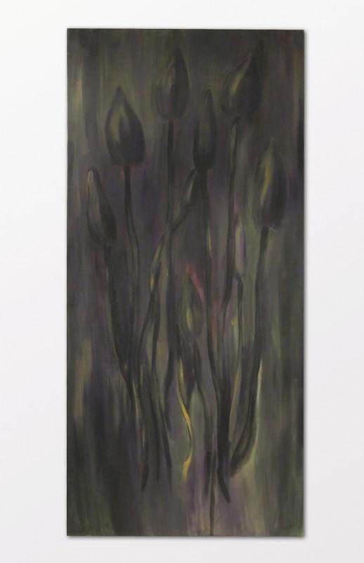 Milan Peřič: Lysohlávky, akryl na plátně