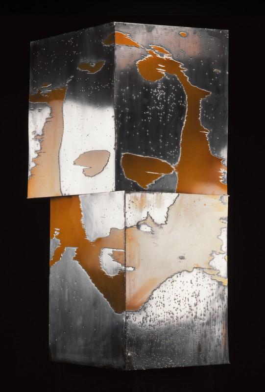 Pavel Mára: Hlava I.B., fotolept v zinkové desce, 1985, neprodejné