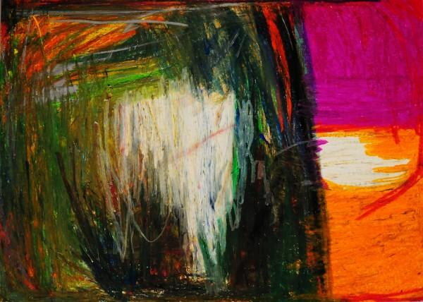 Klaus Zelmer: Vzor, Olejová křída na papíře, 2010, 50x70 cm