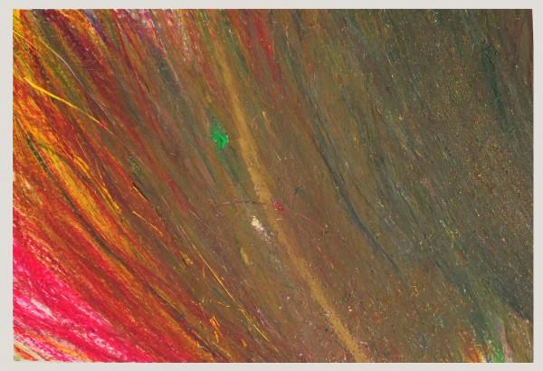 Pomp Uschi: Bez názvu, Olejová křída na papíře, 2001, 44x63 cm