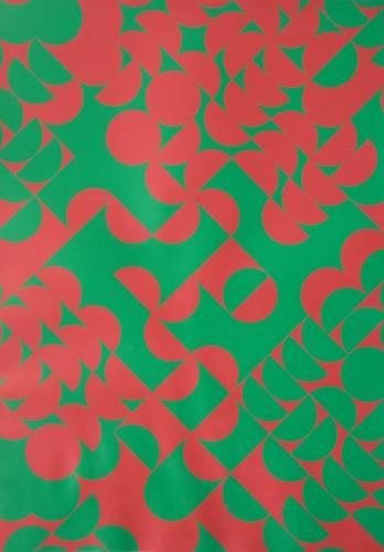 Zdeněk Sýkora: Červeno-zelená struktura, serigrafie, rok 1970, signováno vzadu, vydavatel: Edition Hoffmann, Franfurkt n/M, 59x42 cm