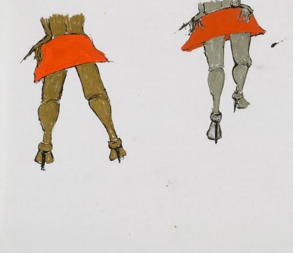 Martina Chloupa: Červená sukně / Red skirt, z cyklu Ve jménu lásky / from In the name of Love series, 2003, vysokostálý pigmentový tisk, limitovaná série 35 ks, 20 x 15 cm, číslováno, signováno, akční cena v rámci hit hit odměn: 2500,- Kč