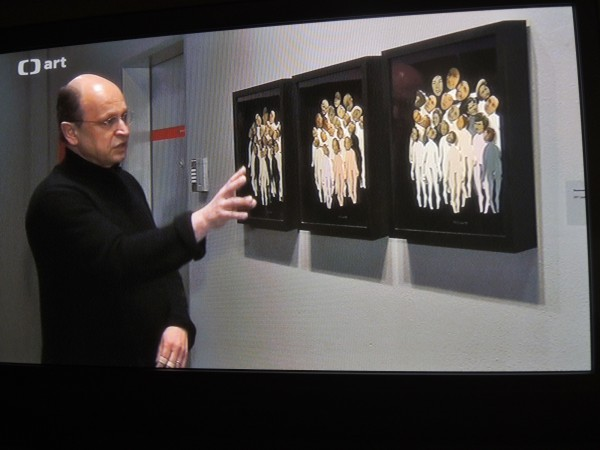 Daniel Pešta v Artinbox Gallery, reportáž pro ČT art, 10. 2. 2017